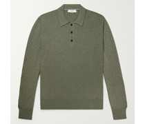 Slim-Fit Cashmere and Cotton-Blend Polo Shirt