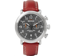 The Runwell 41mm Stainless Steel And Leather Chronograph Watch