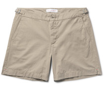 Carvin Slim-fit Cotton-twill Shorts