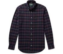 Button-down Collar Checked Cotton-flannel Shirt