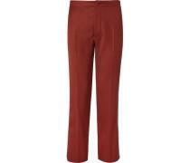 Grosgrain-trimmed Virgin Wool Trousers