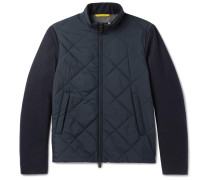Quilted Shell And Wool Jacket