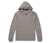 Mélange Cotton-Jersey Hoodie