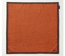 Polka-Dot Wool and Silk-Blend Scarf