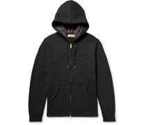 Fleece-back Cotton-blend Jersey Zip-up Hoodie