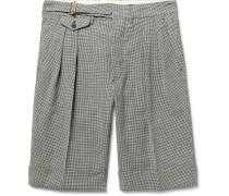 Puppytooth Wool Shorts