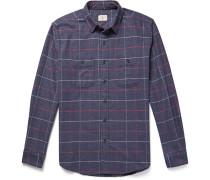 Windowpane-checked Cotton-flannel Shirt