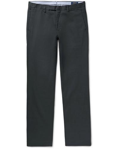 Slim-fit Stretch-cotton Twill Chinos - Black