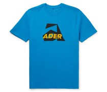 Oversized Logo-Appliquéd Printed Cotton-Blend Jersey T-Shirt