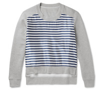 Runway Cotton-blend Jersey And Striped Silk-blend Sweatshirt