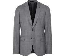 Grey Soho Slim-fit Checked Wool Suit Jacket