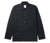 Fabian Herringbone Organic Cotton Overshirt