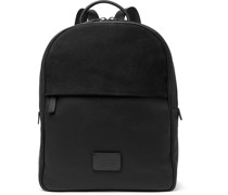 Full-Grain Leather and Suede Backpack