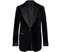 Shelton Slim-Fit Cotton-Velvet Tuxedo Jacket