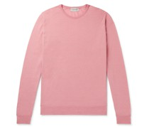 Clundy Merino Wool and Sea Island Cotton-Blend Sweater
