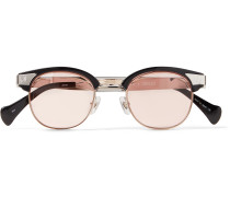 + Matsuda D-Frame Silver- and Gold-Tone and Acetate Sunglasses