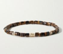 Stargate Gold, Ruby and Tiger's Eye Beaded Bracelet