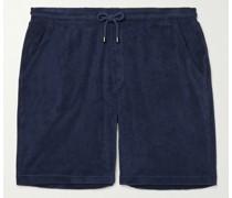Cotton-Blend Terry Drawstring Shorts