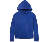 Garment-dyed Fleece-back Cotton-jersey Hoodie