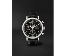 Portofino Automatic Chronograph 42mm Stainless Steel and Alligator Watch, Ref. No. IW391008