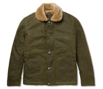 Shearling-lined Waxed-cotton Jacket
