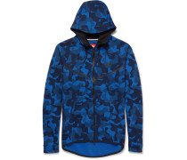Slim-fit Camouflage-print Cotton-blend Tech-fleece Zip-up Hoodie