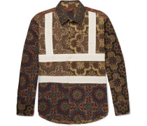 Panelled Printed Cotton Shirt