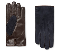 City Cashmere-lined Suede And Leather Gloves