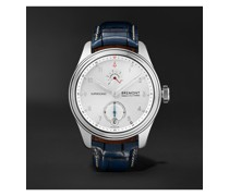 Supersonic Limited Edition Hand-Wound 43mm White Gold and Alligator Watch, Ref. No. SUPERSONIC/WG