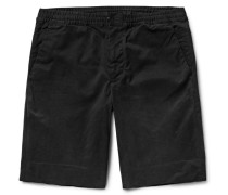 Brushed Stretch-cotton Twill Shorts