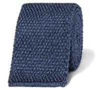 7cm Mélange Knitted Silk Tie