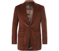 Slim-fit Cotton And Cashmere-blend Corduroy Suit Jacket