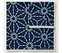 Printed Indigo-Dyed Cotton Pocket Square