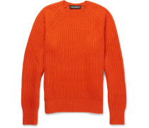Ribbed Wool-blend Sweater