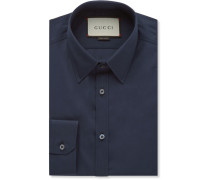 Navy Cotton-poplin Shirt