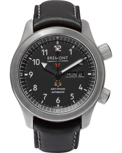 Mbii/or Automatic 45mm Stainless Steel And Leather Watch