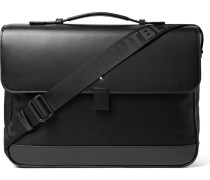 Nightflight Leather-trimmed Nylon Briefcase