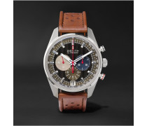 El Primero 36,000 Vph Classic Cars 42mm Stainless Steel And Leather Watch