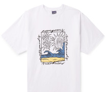 Printed Garment-Dyed Cotton-Jersey T-Shirt