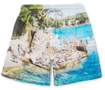 Moorea Mid-length Slim-fit Printed Swim Shorts