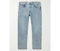 Slim-Fit Organic Stretch-Denim Jeans