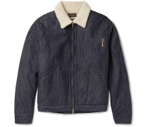 Slim-fit Faux Shearling-lined Denim Jacket