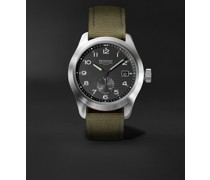 Broadsword Automatic 40mm Stainless Steel and Sailcloth Watch, Ref. BROADSWORD-R-S