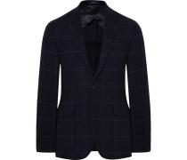 Blue Morgan Slim-fit Windowpane-checked Wool And Alpaca-blend Blazer