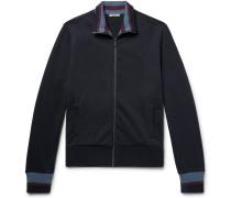 Striped Loopback Cotton-jersey Track Jacket