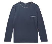 Contrast-tipped Cotton-jersey Pyjama Shirt