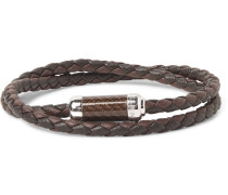 Monte Carlo Braided Leather And Sterling Silver Bracelet