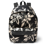 Floral-print Canvas Backpack