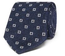 8cm Patterned Textured Silk-blend Tie