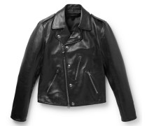Full-grain Leather Biker Jacket